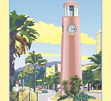 Gisborne Art Deco Clock Tower by contourcreative