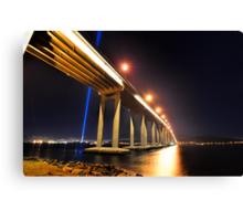 Tasman Bridge Dark MoFo spectra lights  Canvas Print