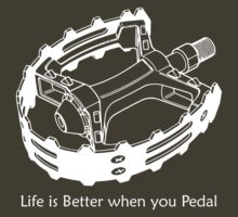 Life is Better when you Pedal (dark) by KraPOW