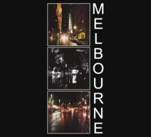 Melbourne shines at night by Linda Lees
