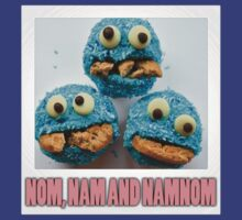 cup cake cookie monster family by MoisheZ