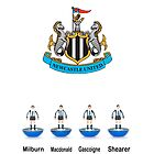 Newcastle United, Legends (Subbuteo) by Stephen Knowles