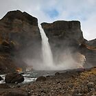 Haifoss from the river by Chris Snyder