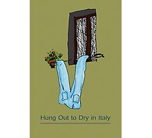 Hung out to dry in Italy Photographic Print