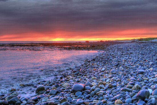 Churn Sunset (HDR) by Debbie  Roberts