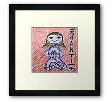 Shantih Framed Print