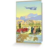 The de Havilland DH 88 Comet Record flight Greeting Card