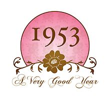 Beautiful 1953 Birthday or Anniversary Gift by thepixelgarden