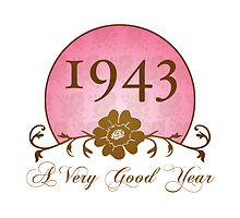 Beautiful 1943 Birthday or Anniversary Gift by thepixelgarden