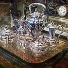 Antique Tiffany Sterling Silver Coffee Tea set by Gunter Nezhoda