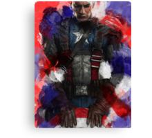 Captain America edit + watercolour effect Canvas Print