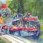 Narrowboats, Bradford on Avon. by ArtPearl