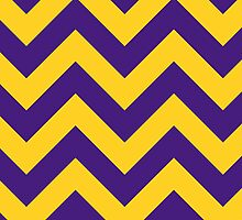 LSU Geaux Tigers (Chevron Pattern) by nikree
