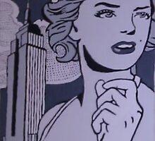Marilyn Monroe Greyscale by ATinySpark22