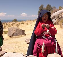 Taquile women, Lake Titicaca by winderland