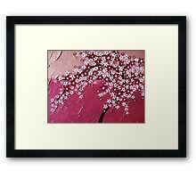 Pink cherry blossom tree - Japanese - card phone cover / case Framed Print