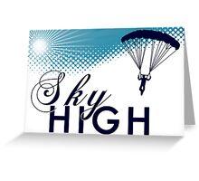 sky high sky dive Greeting Card