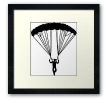 skydiver silhouette Framed Print
