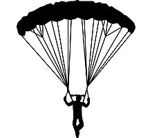 skydiver silhouette Photographic Print