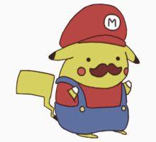 Pikachu/Mario by gentlebrah