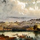 The White Castles on the upper Missouri from an aquatint  by Karl Bodmer 19th century by Dennis Melling