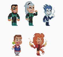 Superman: The Animated Series Pixel Figure Sticker Set by Pixelfigures