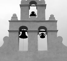 San Juan Bell Tower Black and White by marybedy