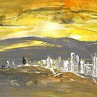 Spain - Sunset in Benidorm by Goodaboom