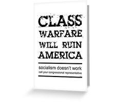 Class Warfare Greeting Card