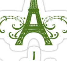 Green Vintage French Flourish Sticker