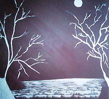 Snow Fields - Acrylic Painting by Janette Oakman