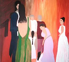 The Wedding - Acrylic Painting by Janette Oakman