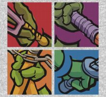 Lichtenstein Pop Martial Art Quelonians Full Set T-Shirt