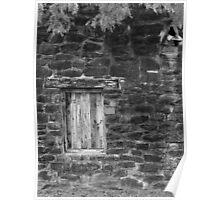 San Jose Window 2 Black and White Poster