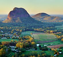 Glasshouse Mountains, Queensland, Australia by Michael Boniwell