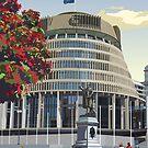 Beehive, Wellington New Zealand by contourcreative