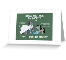 Kaiba Ponies Greeting Card