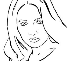 Ink drawing of Karen Gillan by jem16