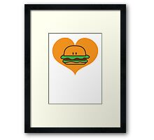 BURGER man love Framed Print