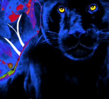 Bright eyes - Black Panther Sticker