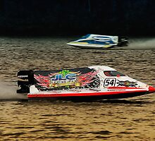 Race boat Taree 01 by kevin chippindall