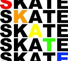 skate textstacks by maydaze