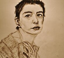 'I Dreamed a Dream' Anne Hathaway, Les Miserables Portrait  by Katie  McNeice