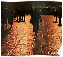 The Entrance to the Western Wall at Night Poster