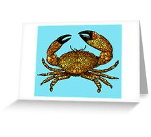 Stone Rock'd Stone Crab by Sharon Cummings Greeting Card