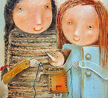 Thick-Sewn Stitching Lie by Monica Blatton