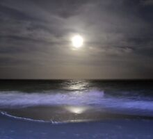 Misty Super Moon by Dawne Dunton