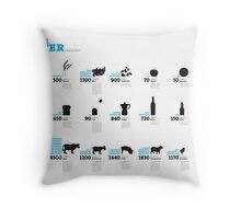 Virtual Water Footprint of Products Throw Pillow