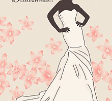 Will You Be My Bridesmaid Greeting Card Stylish And Modern by Moonlake