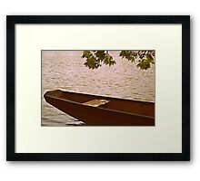Down by the Water I Framed Print